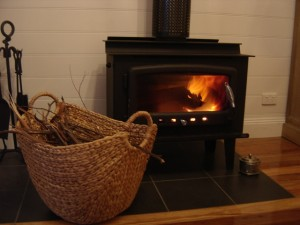 cosy wood fire